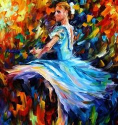 """The Spinning Dancer"" by Leonid Afremov"